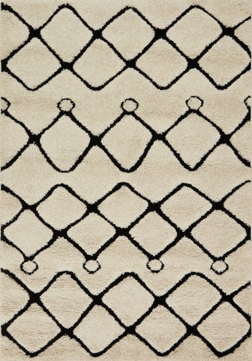 Loloi Enchant EN-25 Ivory / Black Rug