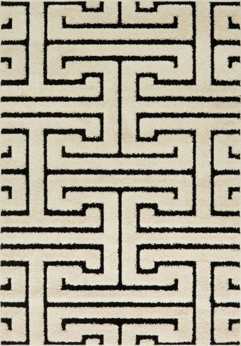 Loloi Enchant EN-28 White / Black Rug