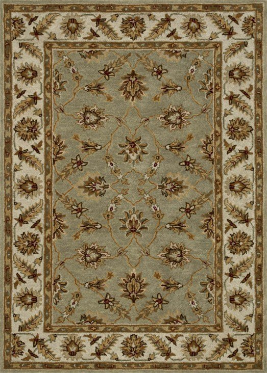 Loloi Fairfield HFF12 Seafoam Green / Cream Rug