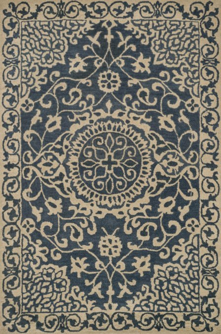 Loloi Fairfield HFF24 Blue / Ivory Rug