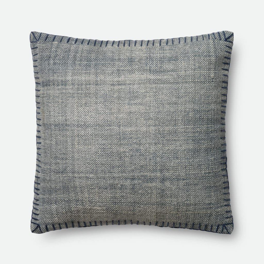 Magnolia Home P0435 Blue / Blue Pillow