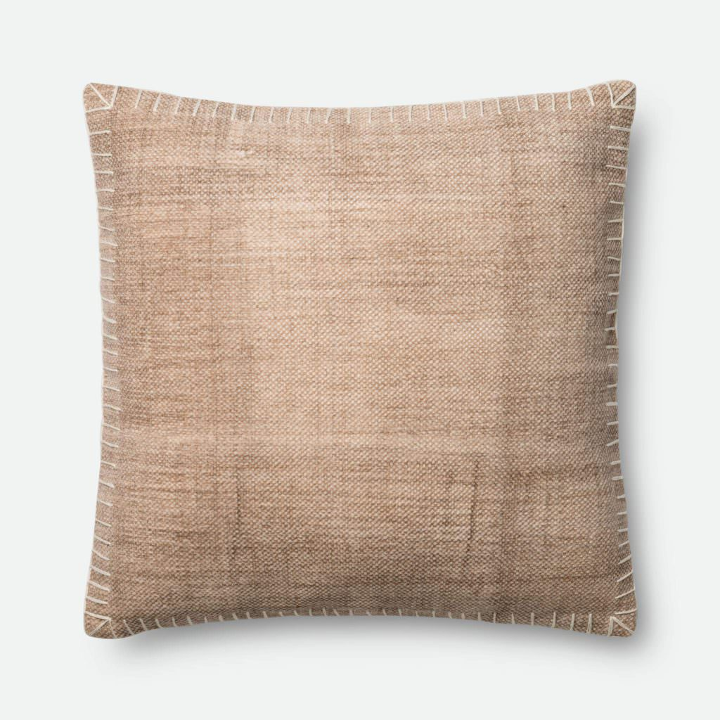 Magnolia Home P0435 Beige / White Pillow