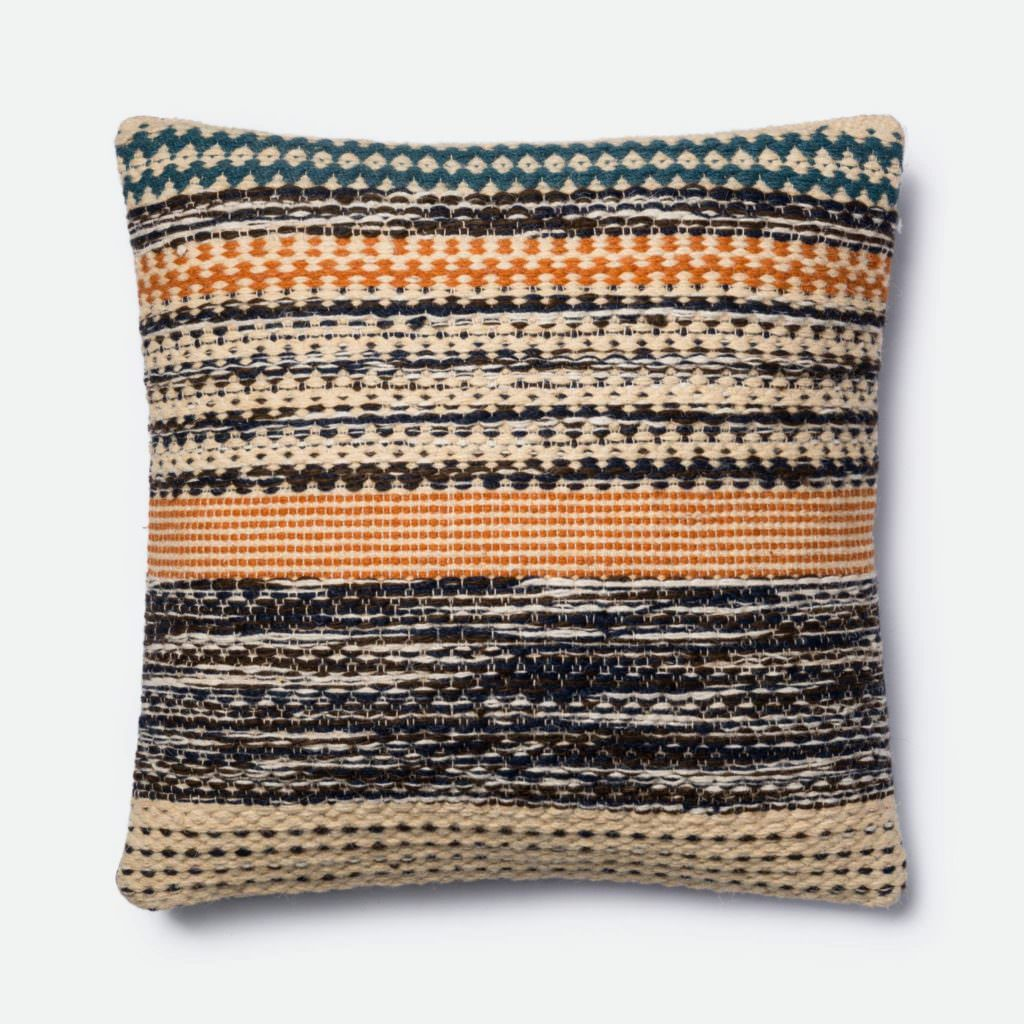 Magnolia Home P1009 Orange / Blue Pillow