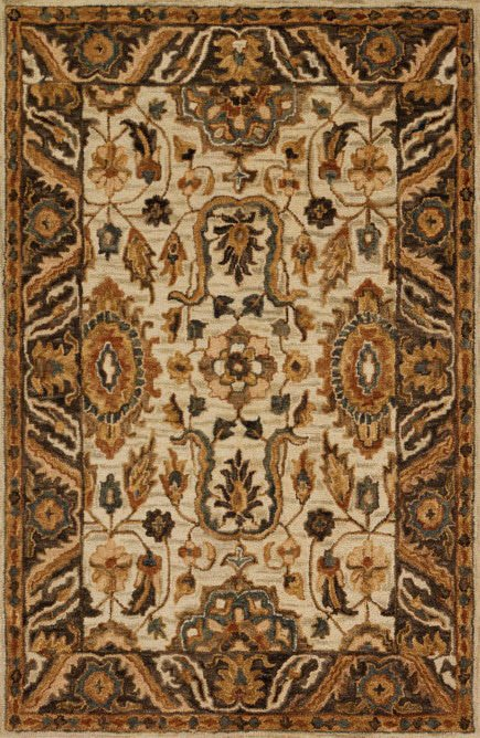 Loloi Victoria VK-02 Ivory / Dk Taupe Rug