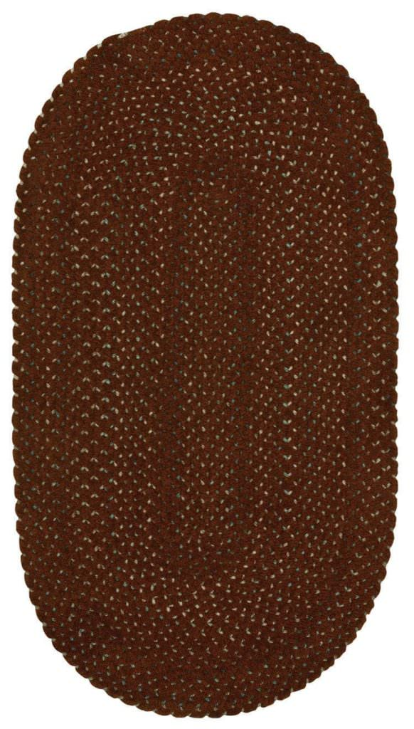 Capel Dramatic Static 550 Extreme Rust Braided Rug