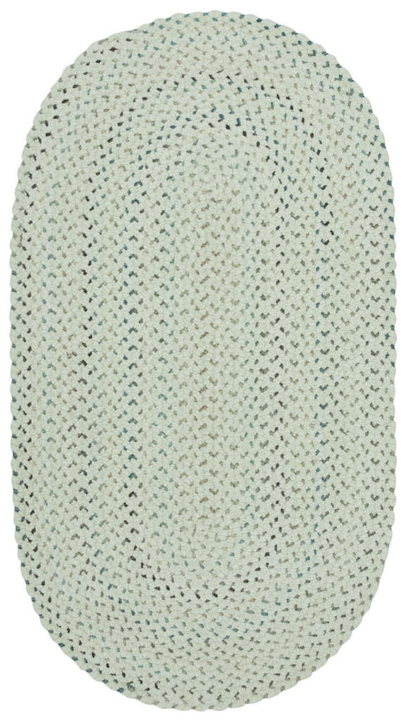Capel Dramatic Static 600 Cyber White Braided Rug