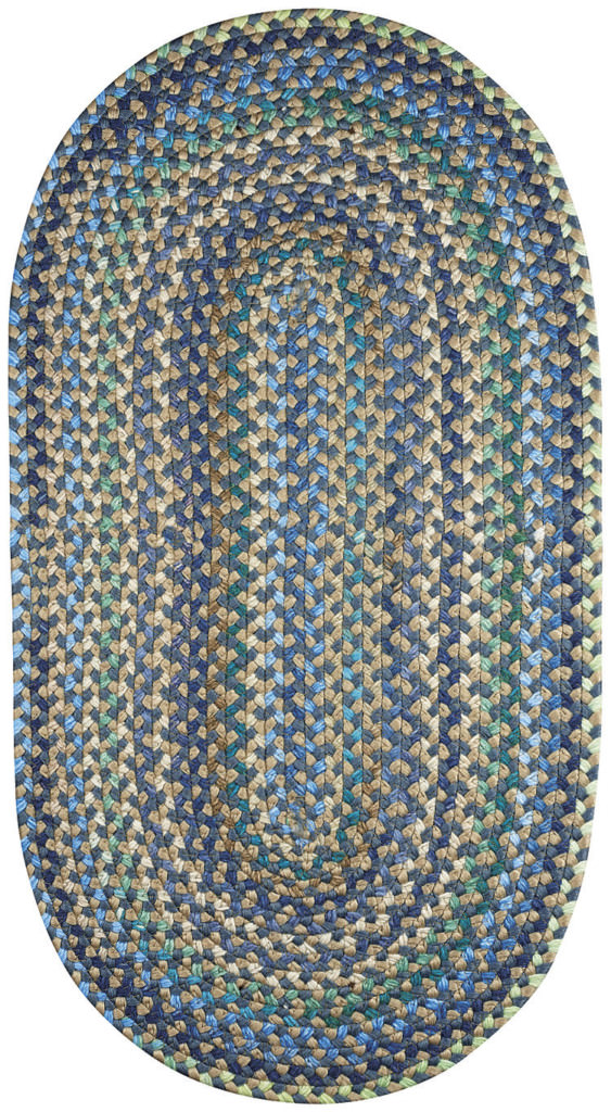 Capel Nu-Way 400 Blue Braided Rug