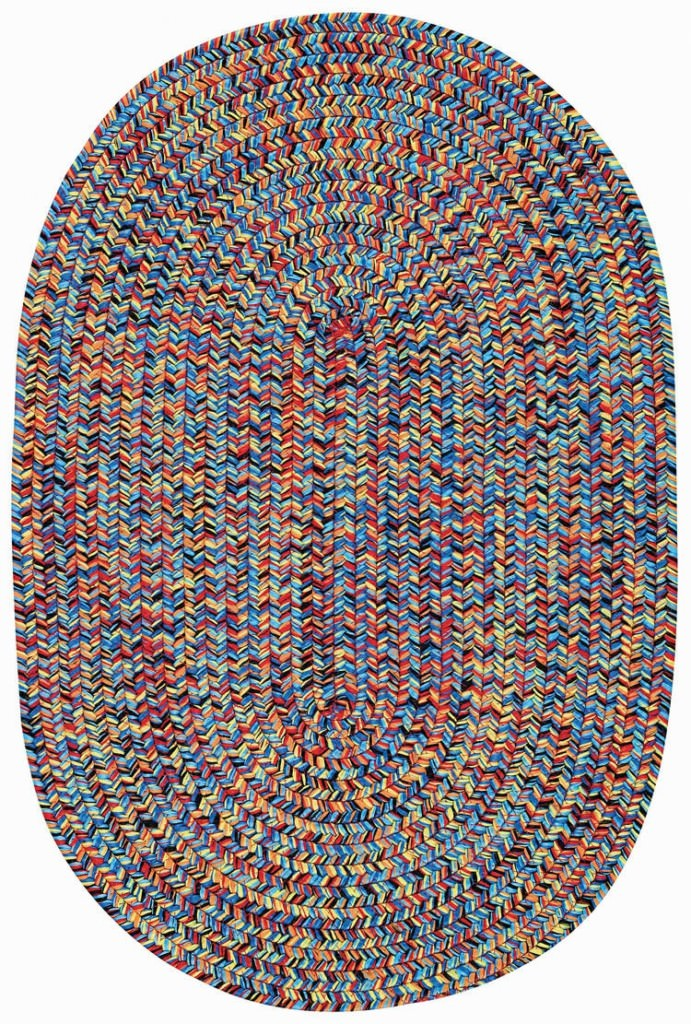 Capel Sea Glass 900 Fiesta Bright Multi Braided Rug