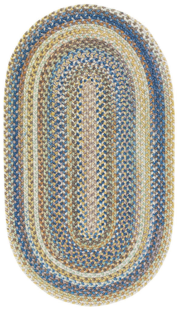 Capel American Legacy 410 Natural Blue Braided Rug