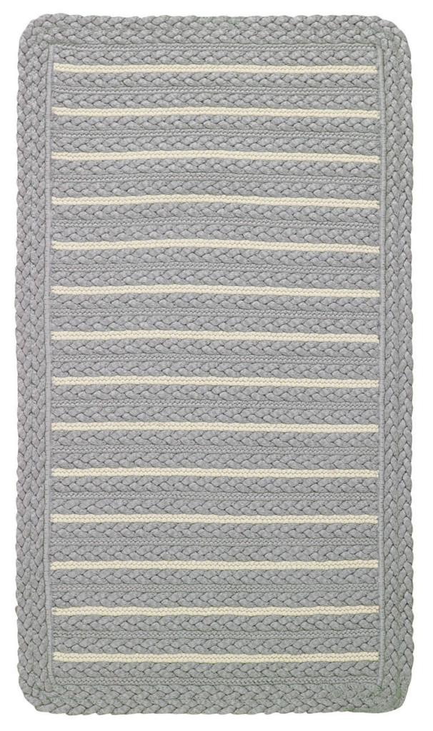 Capel Hammock 325 Grey Taupe Braided Rug