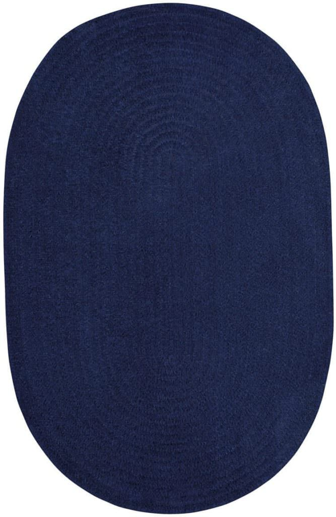 Capel Chenille Creations 475 Mid. Navy Braided Rug
