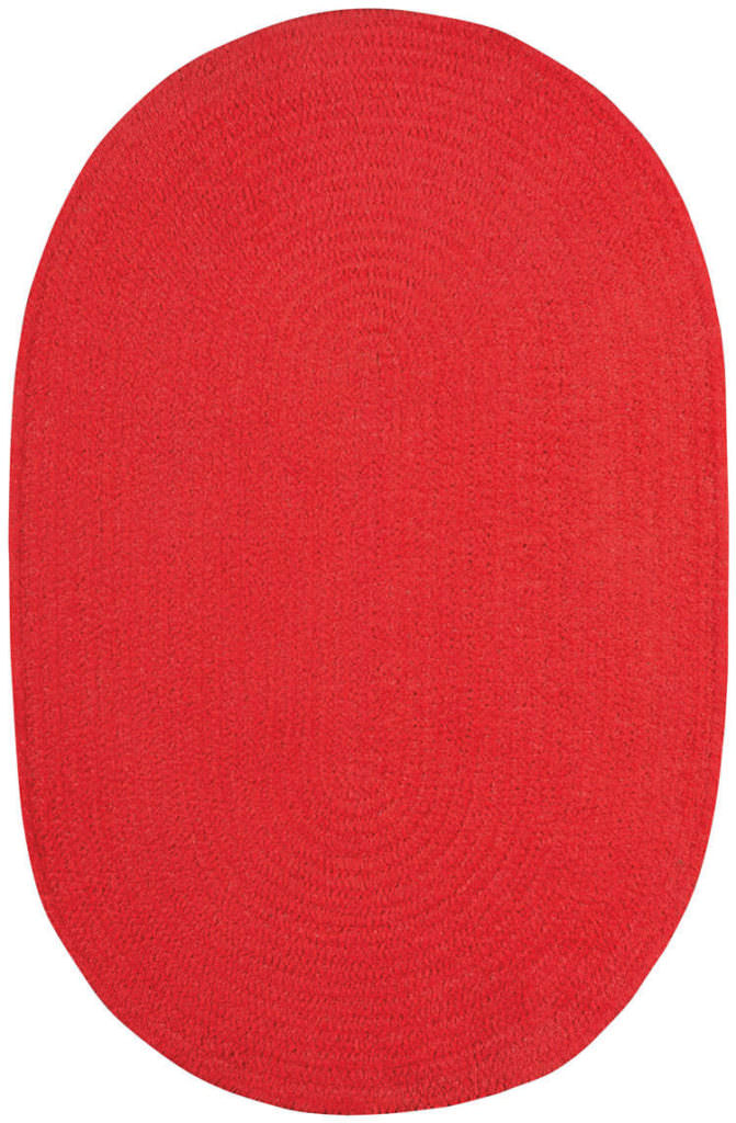 Capel Chenille Creations 560 Flmng Red Braided Rug