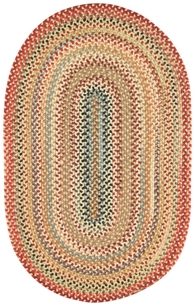 Capel Americana 100 Lt. Gold Braided Rug