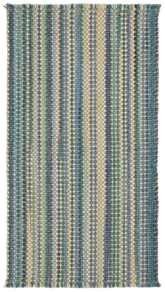 Capel Hampton 425 Seaglass Blue Braided Rug