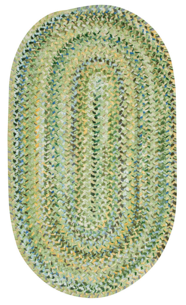 Capel Grand-Le-Fleur 225 Willow Green Braided Rug
