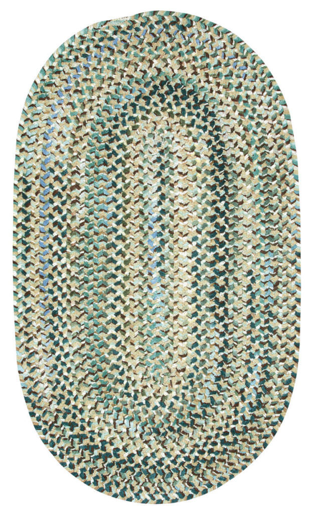Capel Grand-Le-Fleur 475 Deep Waters Braided Rug
