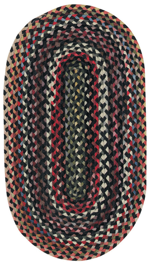 Capel Plymouth 300 Black Braided Rug