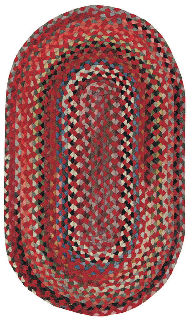 Capel Plymouth 500 Country Red Braided Rug