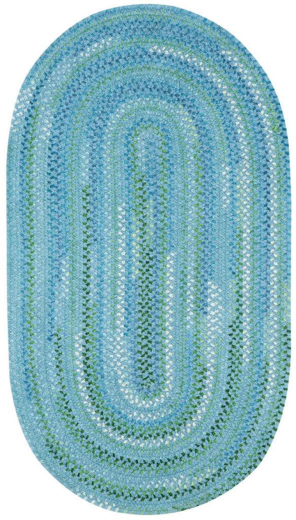 Capel Sailor Boy 400 Deep Blue Sea Braided Rug