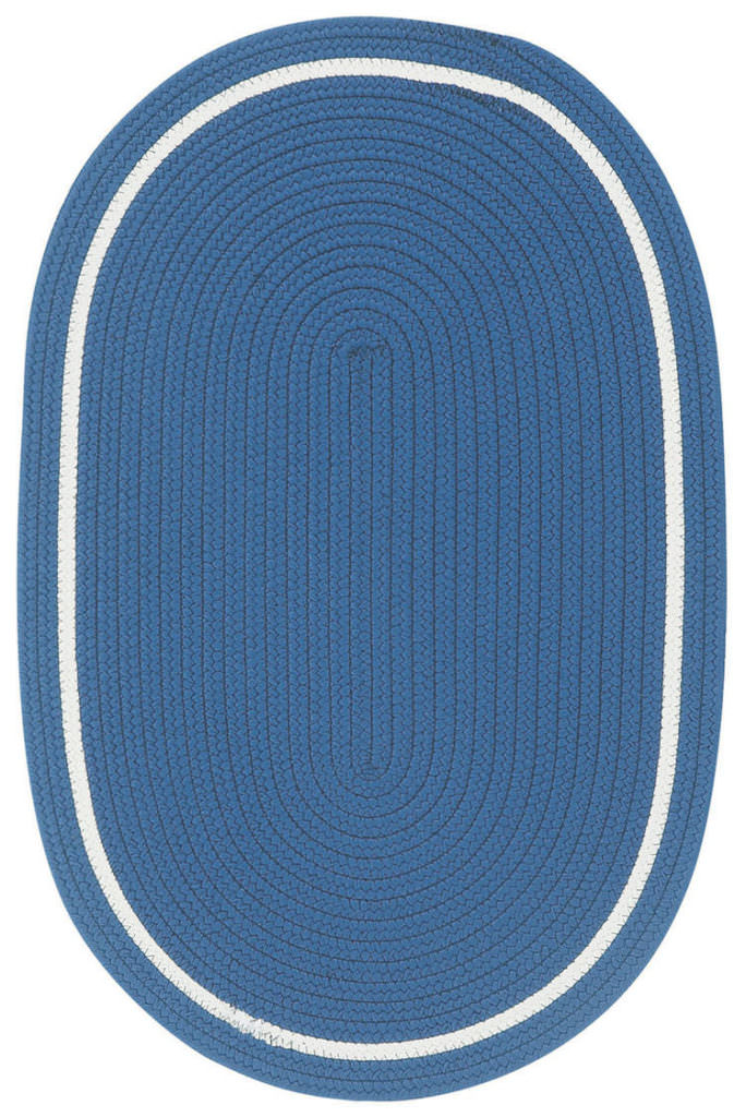 Capel Garden Party 475 Cobalt Blue Braided Rug