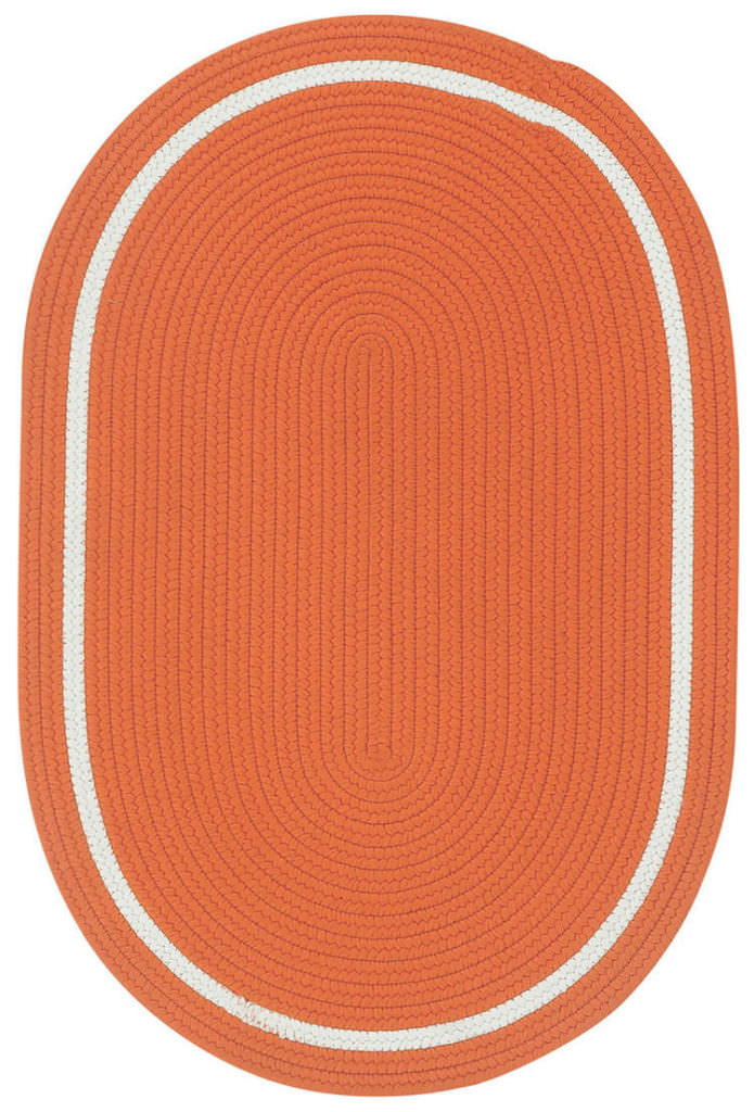 Capel Garden Party 800 Tuscan Orange Braided Rug