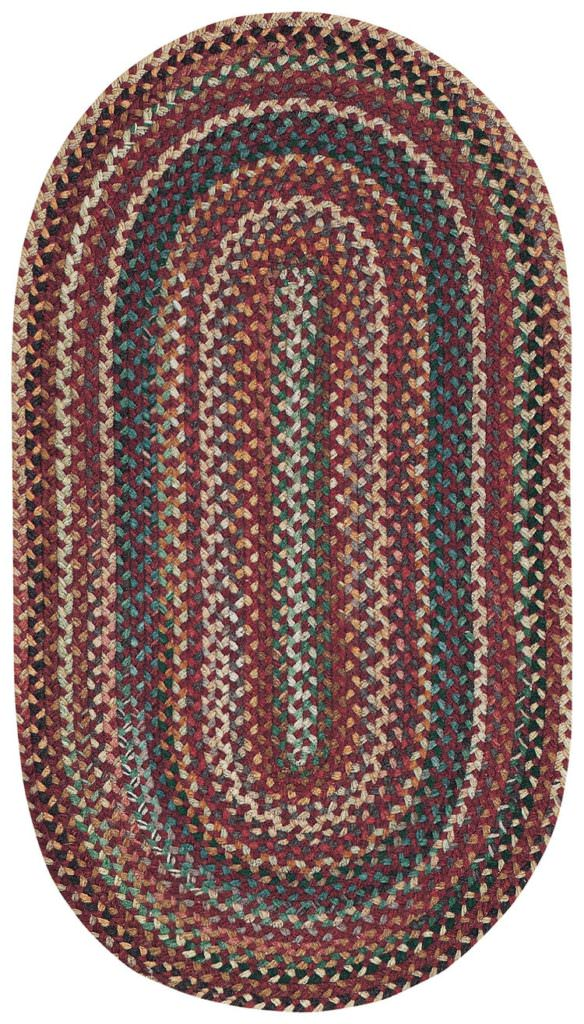 Capel Bear Creek 550 Heritage Red Braided Rug