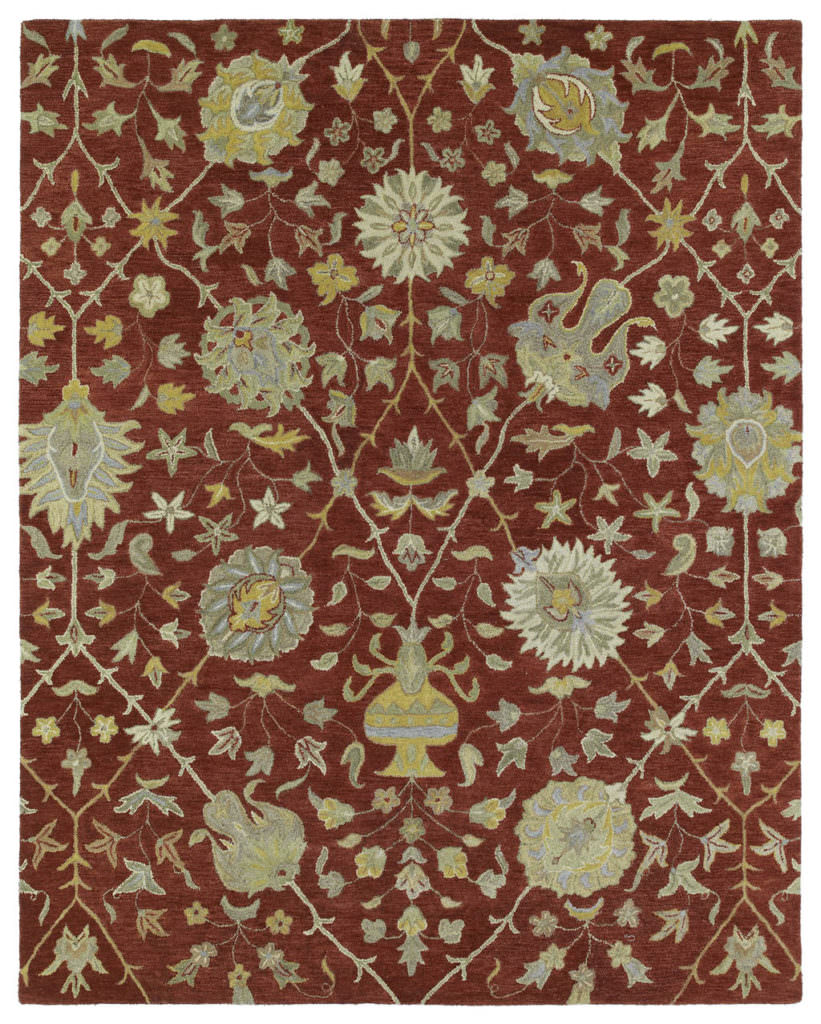 Kaleen Helena Collection 3202-25 Red Rug