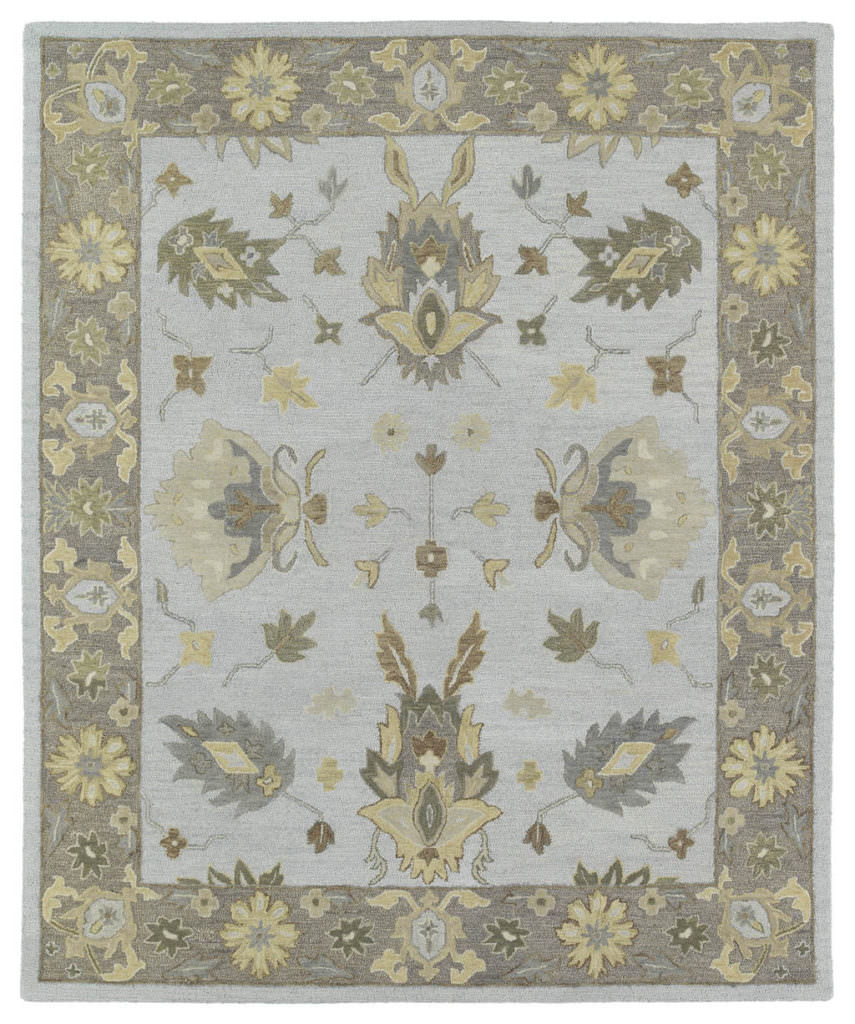 Kaleen Brooklyn Delaney-03 Silver Rug