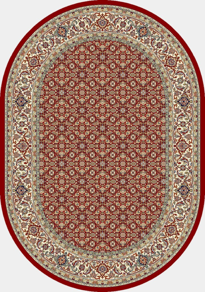 """Dynamic Ancient Garden 6'-7"""" x 9'-6"""" Oval 57011-1414 Red / Ivory Rug"""