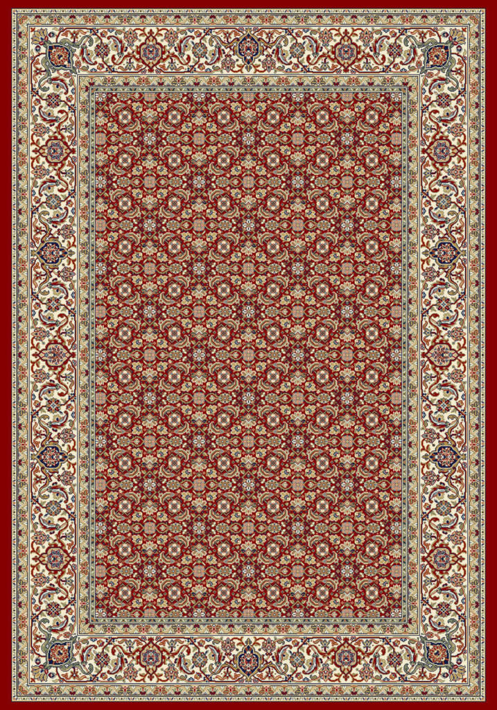 "Dynamic Ancient Garden 9'-2"" x 12'-10"" 57011-1414 Red / Ivory Rug"