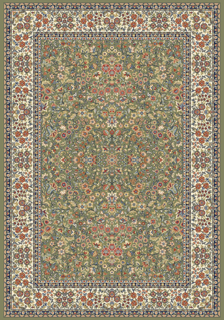 "Dynamic Ancient Garden 9'-2"" x 12'-10"" 57078-4444 Green / Ivory Rug"