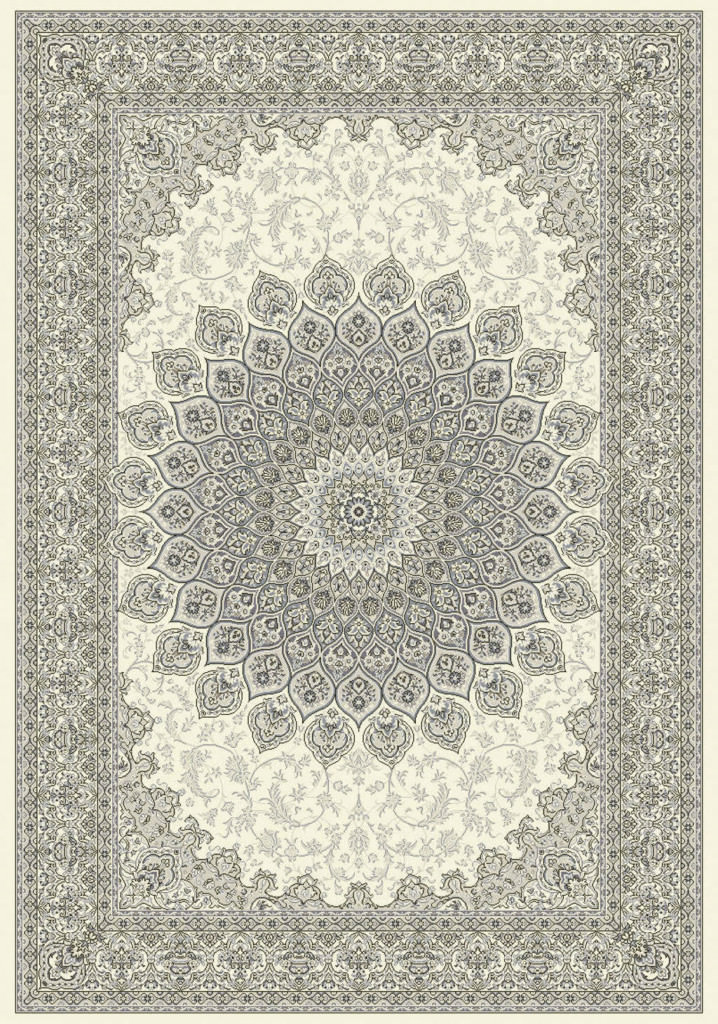 "Dynamic Ancient Garden 9'-2"" x 12'-10"" 57090-6666 Cream / Grey Rug"