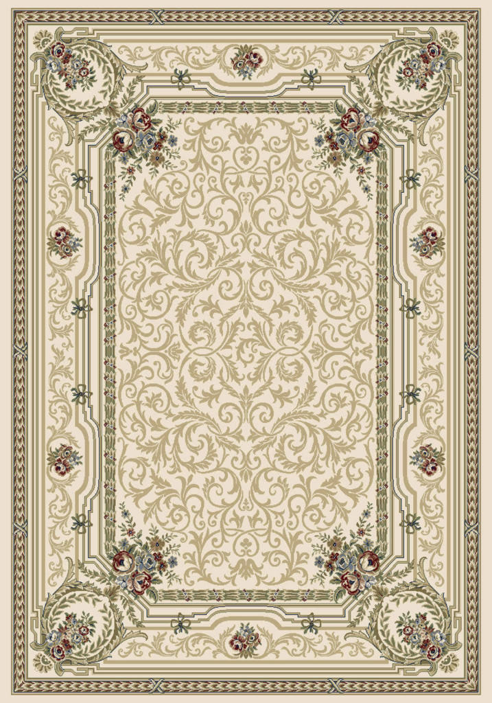 "Dynamic Ancient Garden 9'-2"" x 12'-10"" 57091-6464 Ivory Rug"