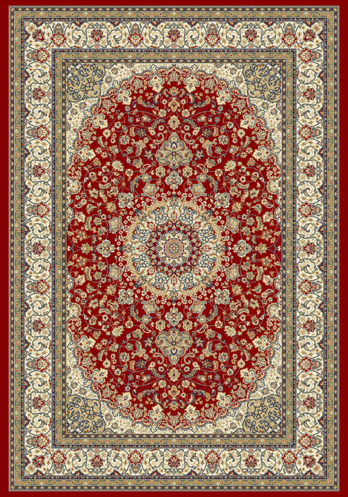 "Dynamic Ancient Garden 9'-2"" x 12'-10"" 57119-1414 Red / Ivory Rug"