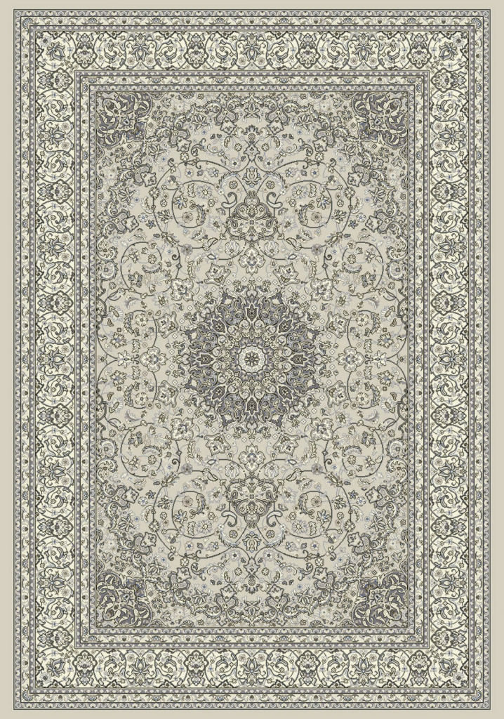 "Dynamic Ancient Garden 9'-2"" x 12'-10"" 57119-9666 Soft Grey / Cream Rug"