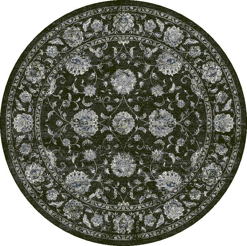 "Dynamic Ancient Garden 7'-10"" x 7'-10"" Round 57126-3636 Cream / Grey Rug"