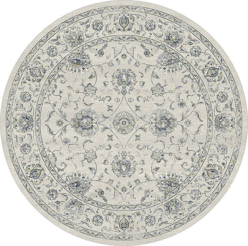 "Dynamic Ancient Garden 7'-10"" x 7'-10"" Round 57126-6666 Cream / Grey Rug"