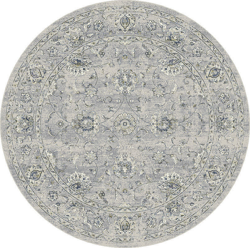 "Dynamic Ancient Garden 7'-10"" x 7'-10"" Round 57126-9696 Cream / Grey Rug"