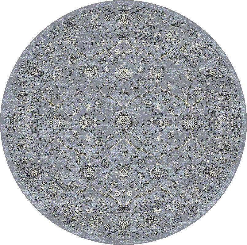 "Dynamic Ancient Garden 7'-10"" x 7'-10"" Round 57136-4646 Cream / Grey Rug"
