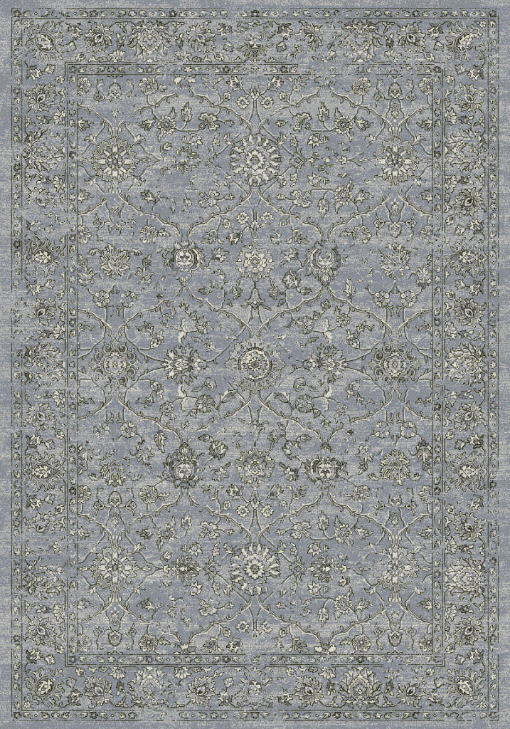 "Dynamic Ancient Garden 9'-2"" x 12'-10"" 57136-4646 Steel Blue / Cream Rug"