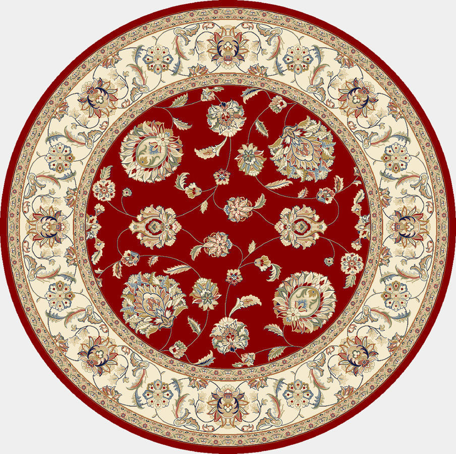 "Dynamic Ancient Garden 7'-10"" x 7'-10"" Round 57365-1464 Red / Ivory Rug"