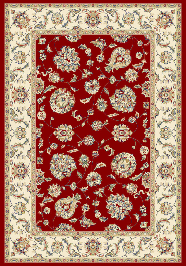 "Dynamic Ancient Garden 9'-2"" x 12'-10"" 57365-1464 Red / Ivory Rug"