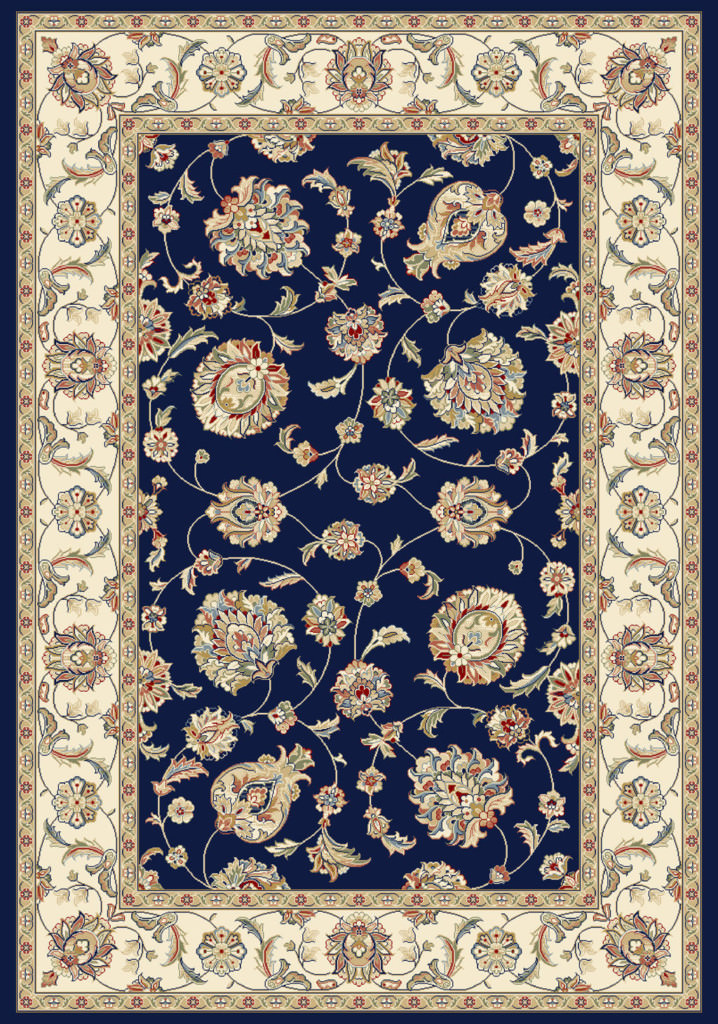 "Dynamic Ancient Garden 9'-2"" x 12'-10"" 57365-3464 Blue / Ivory Rug"