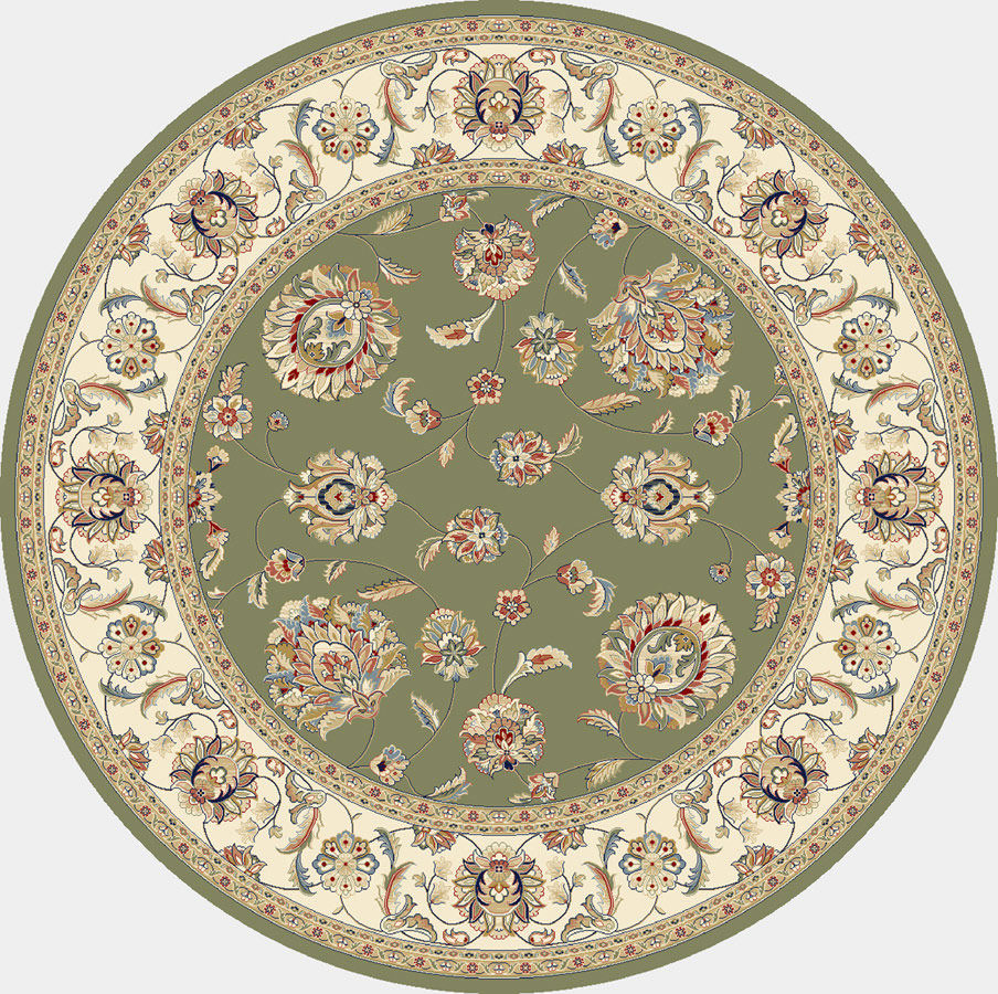 "Dynamic Ancient Garden 7'-10"" x 7'-10"" Round 57365-4464 Green / Ivory Rug"