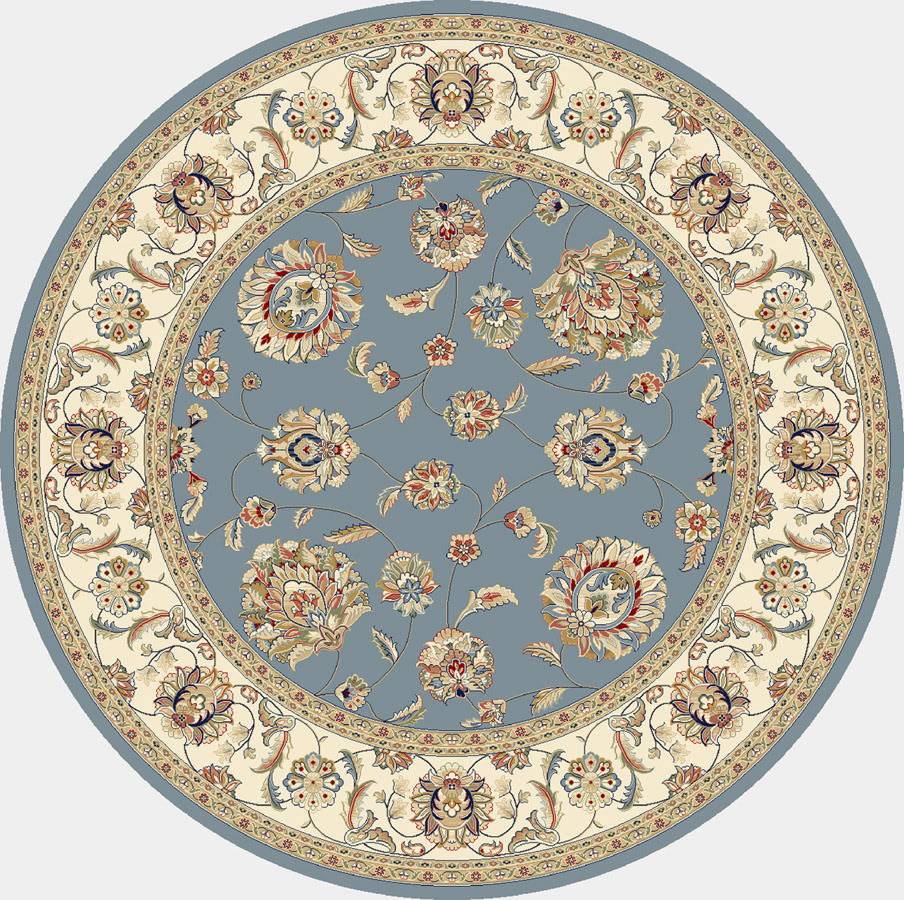 "Dynamic Ancient Garden 7'-10"" x 7'-10"" Round 57365-5464 Lt. Blue / Ivory Rug"