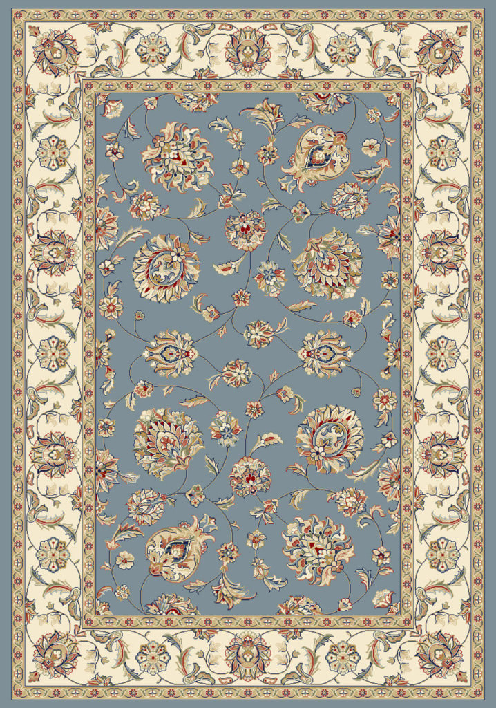 "Dynamic Ancient Garden 9'-2"" x 12'-10"" 57365-5464 Lt. Blue / Ivory Rug"
