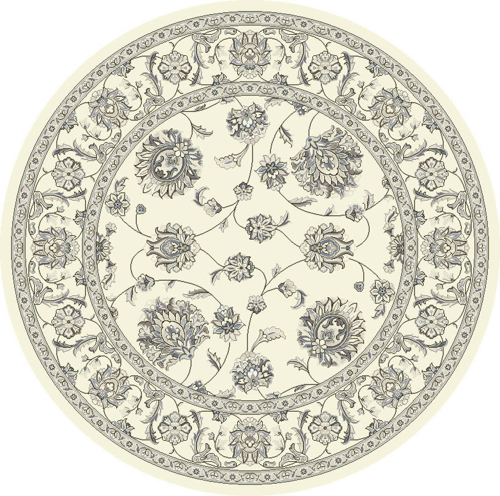 "Dynamic Ancient Garden 7'-10"" x 7'-10"" Round 57365-6666 Cream Rug"