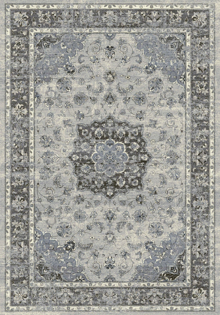 "Dynamic Ancient Garden 9'-2"" x 12'-10"" 57559-9656 Silver / Grey Rug"