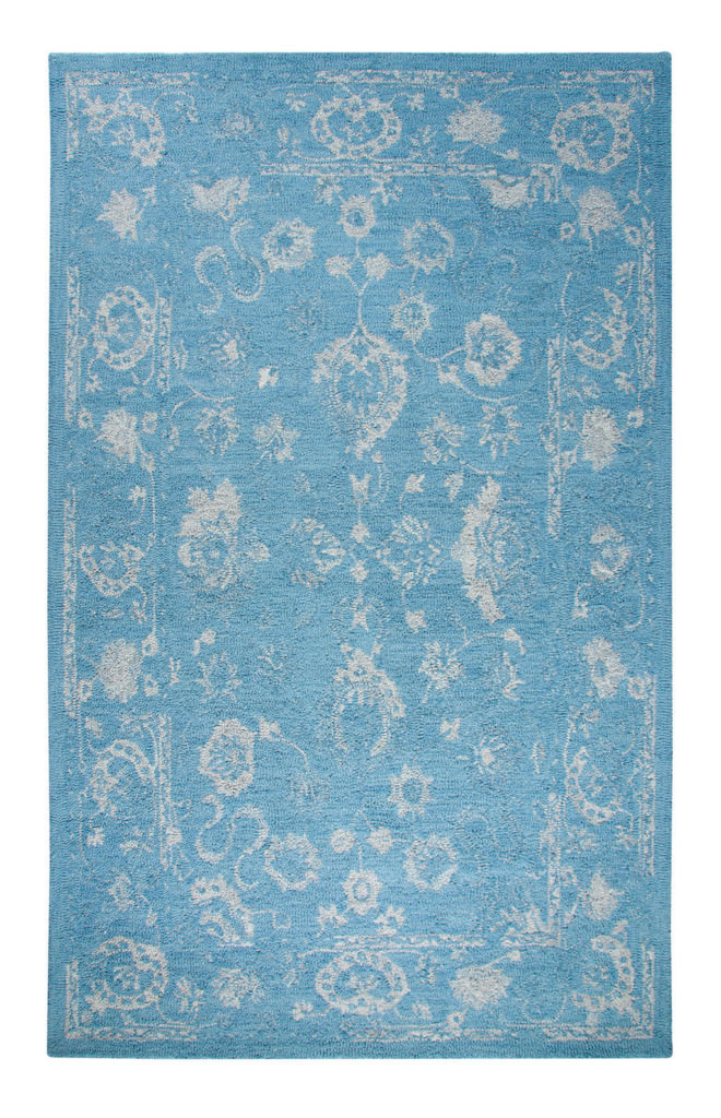 "Dynamic Avalon 9'-2"" x 12'-6"" 88800-507 Turquoise / Silver Rug"