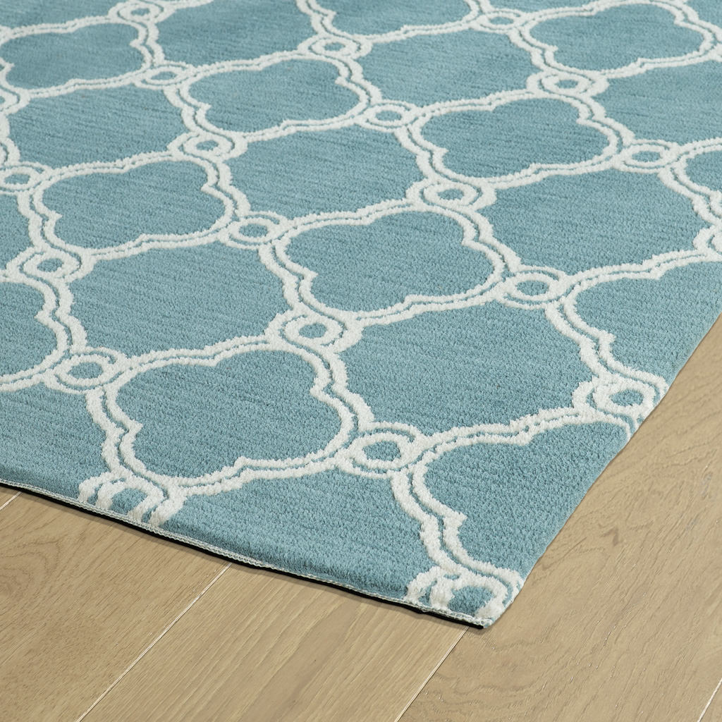 Kaleen Cozy Toes CTC10-78 Turquoise Rug Close-Up